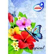 """Щоденник шкільний """"Класний. Тропічні квіти"""" (тв. обкл., 96 ст.)  - ТОВ """"Аркуш"""" 1B140-08"""