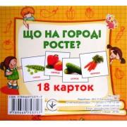 """Картки-міні """"Що на городі росте?"""" (18 карток), ТМ Jumbi 2870-81"""