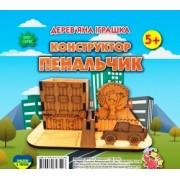 """Дерев'яна іграшка """"Конструктор: Пенальчик"""", ТМ Jumbi 5060-02"""