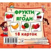 """Картки-міні """"Фрукти та ягоди"""" (18 карток), ТМ Jumbi J801u-191"""