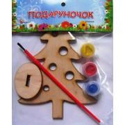 """Розмальовка дерев'яна на підставці """"Подаруночок. Ялинка"""", ТМ """"Jumbi""""-133"""