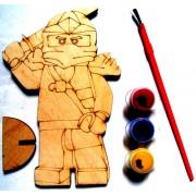 """Розмальовка дерев'яна фігурна """"Ніндзя"""", Jum-DR7463-230"""