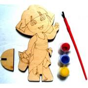 """Розмальовка дерев'яна фігурна """"Даша-мандрівниця"""", Jum-DR7465-229"""