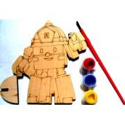 """Розмальовка дерев'яна фігурна """"Робокар"""", Jum-DR7466-232"""