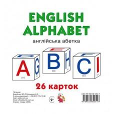 """Картки великі, 15х15 см """"English alphabet: 26 карток"""", ТМ Jumbi J009у-273"""