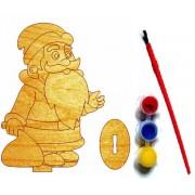 """Розмальовка дерев'яна на підставці """"Сюрпризик. Дід Мороз"""", ТМ """"Jumbi""""-J038у-250"""