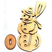 """Іграшка дерев'яна на підставці """"Сніговик"""", Jum-233"""