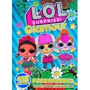 """Розмальовка розвивальна """"L.O.L."""" (кольорова основа, 118 наліпок, іграшка) - Jum-285"""