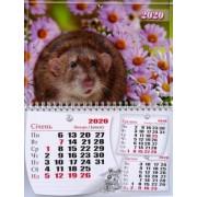 Календар квартальний на 2020 рік Б.ЭК-07 (криса в ромашках)