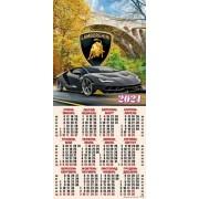 Календар-плакат третинка на 2020 рік (криса в квітах) ТР-06