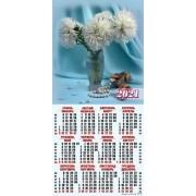 Календар-плакат третинка на 2020 рік (криса, золото, гроші) ТР-07