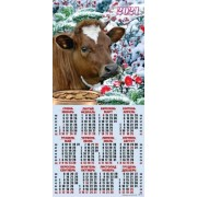 Календар-плакат третинка на 2020 рік (гори) ТР-08