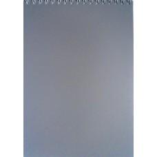 Блокнот А5 (спираль, 60 листов, клетка, пласт. обл.) - ВА5360 (серый)