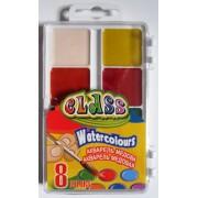Фарби акварельні медові 8 кольорів CLASS № 7614