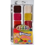 Фарби акварельні медові 10 кольорів CLASS № 7615