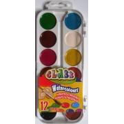 Фарби акварельні медові 12 кольорів CLASS № 7616