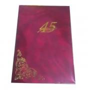 Папка вітальна 45 років 310х220мм ПВ-45
