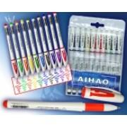Ручки гелеві (набір з 10 кольорів) - AIHAO AH801A-10