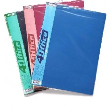 Папка з файлами А-4 на 20 файлів, зелена, 4Office, 4-223