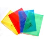 Папка-конверт А-5 на кнопке пластиковая 4Office 4-205