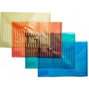 Папка-конверт А-4 на кнопке пластиковая 4Office 4-206