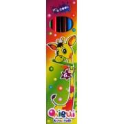 """Карандаши цветные 6 цветов """"Жирафик"""" 215/6-BL"""