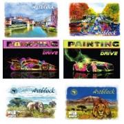 Альбом для рисования А4 (12 листов, 100 г/м2, обложка в ассортименте), ГРАФІКА - АА 4512