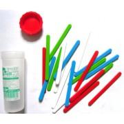 Лічильні палички №20 пластикові, різнокольорові, 20 штук у пластмасовій тубі С-20