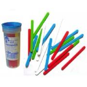 Лічильні палички №40 пластикові, різнокольорові, 40 штук у пластмасовій тубі С-40