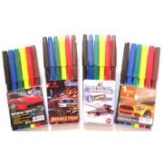 Фломастери 6 кольорів для хлопчиків 828-6
