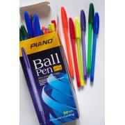 Ручка масляная PIANO PT-1158 (50 шт., синяя)
