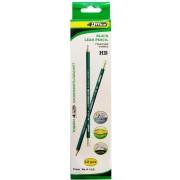 Карандаш графитный, НВ, пластиковый с ластиком 4Office 4-110 (1 шт.)