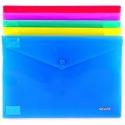Папка-конверт А-4 на кнопке пластиковая 4Office 4-208