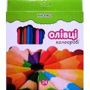 """Карандаши цветные 24 цвета """"Кнопка"""" 55604-KN"""