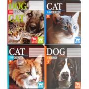 """Зошит шкільний 18 аркушів, клітинка - ТОВ """"Тетрада"""" (Cat & Dog) 81273-85"""