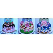 Блокнот-торт (спираль, 40 листов, линия, обл. в ассортименте) - Х-163