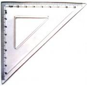 Треугольник ученический (10 см, прозрачный пластик) - MF2006-2