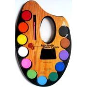 """Фарби акварельні сухі (12 кольорів, пензлик) - """"Палітра велика"""" 15506"""