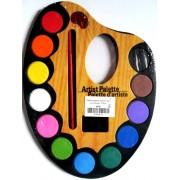 """Фарби акварельні сухі (12 кольорів, пензлик) - """"Палітра мала"""" 36131"""