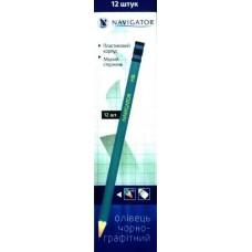 Олівець чорнографітний з гумкою NAVIGATOR 72901-NV (12 шт.)