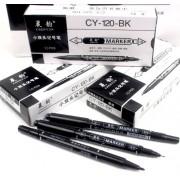Маркер чорний двосторонній - CY-120-BK (10 шт.)