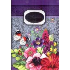 """Щоденник шкільний """"Квіткові фантазії"""" (м'яка обкл., 96 ст.)  - ТМ """"Мандарин"""" Щ-В5-48-Ск-МК-1663-07"""