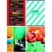 """Книга канцелярська А4 (м'яка обкл. в асортименті, газет. папір, 96 арк., лінія) - """"Аркуш"""" КнК-96-04"""