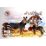 """Альбом для малювання А4 (скоба, 24 арк.) - ТОВ """"Компанія Офорт"""" АА-4224 """"Сафарі"""""""