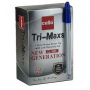 Ручка кулькова з чорнилом синього кольору Tri-Maxs CL-1806 (50 шт.)