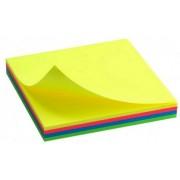 Папір для нотаток з клейким шаром (неон, 4 кольори, 75х75 мм, 100 аркушів) - D3325-02