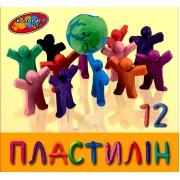 """Пластилін """"Колорит"""", 12 кольорів, 215 г., П-12"""