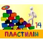 """Пластилін """"Колорит"""", 14 кольорів, 250 г., П-14"""
