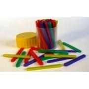 Лічильні палички (пластикові, різнокольорові, 60 штук у пластмасовій тубі) - IRBIS-60