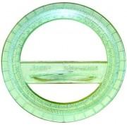 Транспортир 360 (пластик, прозорий, колір в асортименті) - Т-360Г